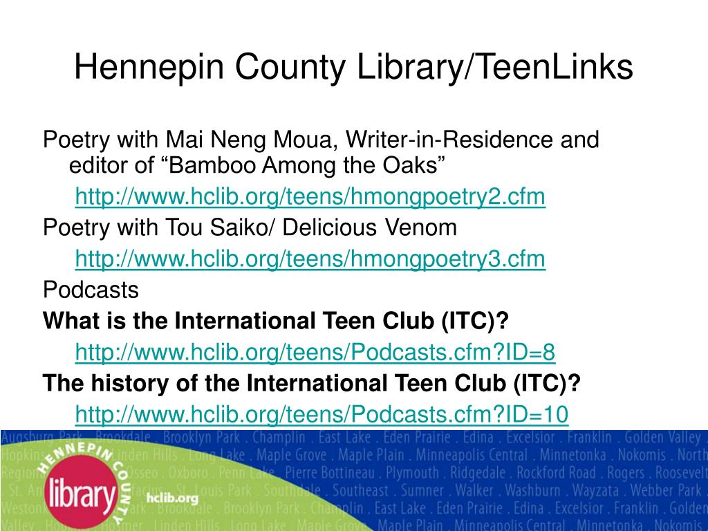 Hennepin County Library/TeenLinks