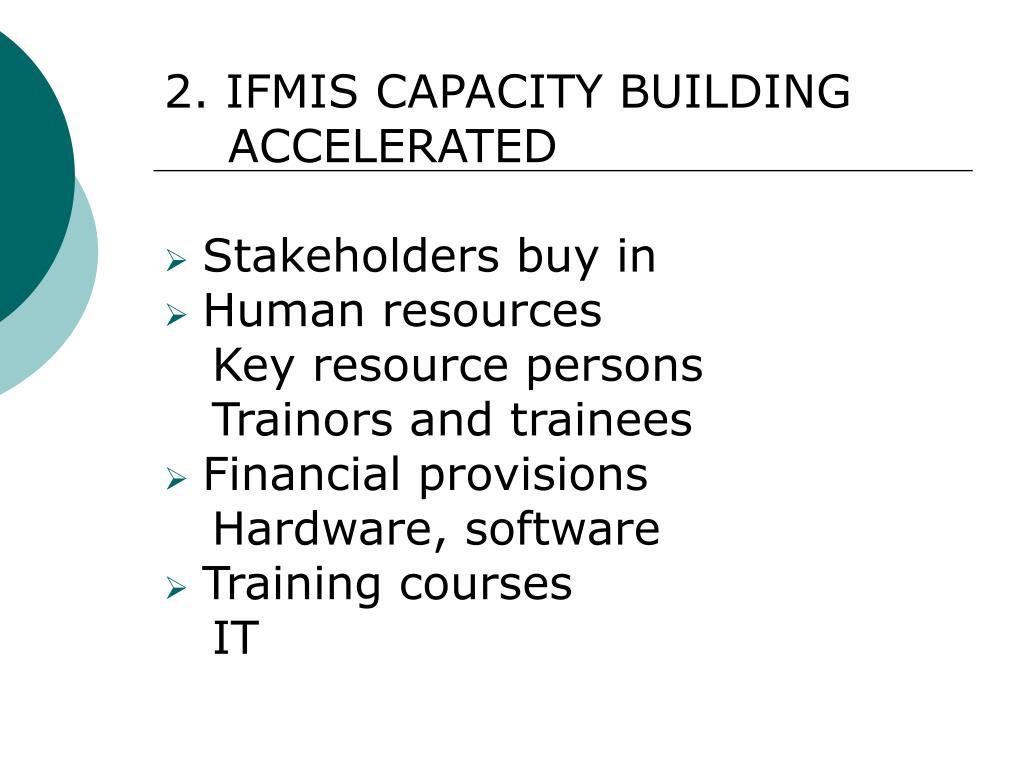 2. IFMIS CAPACITY BUILDING