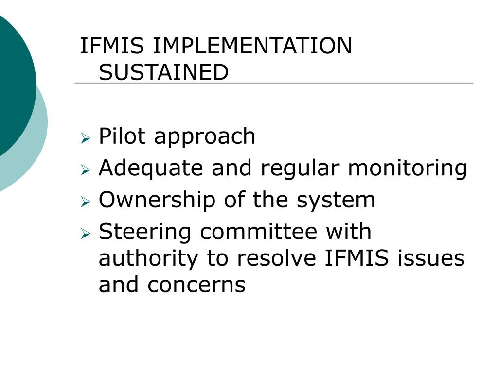 IFMIS IMPLEMENTATION SUSTAINED