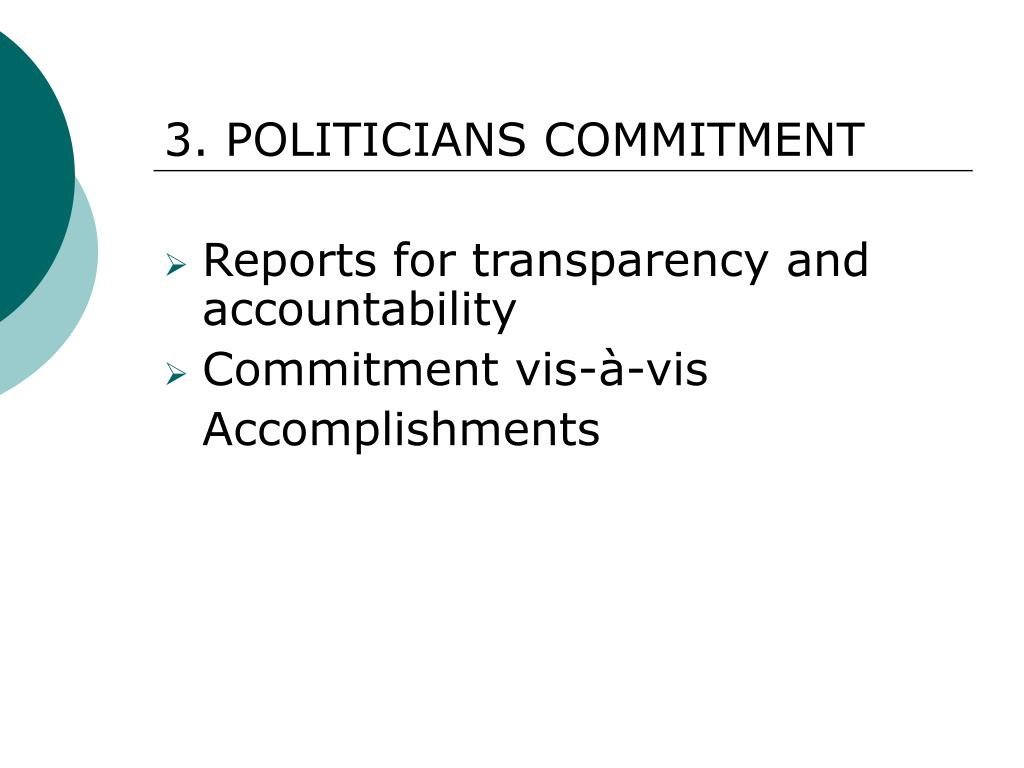 3. POLITICIANS COMMITMENT