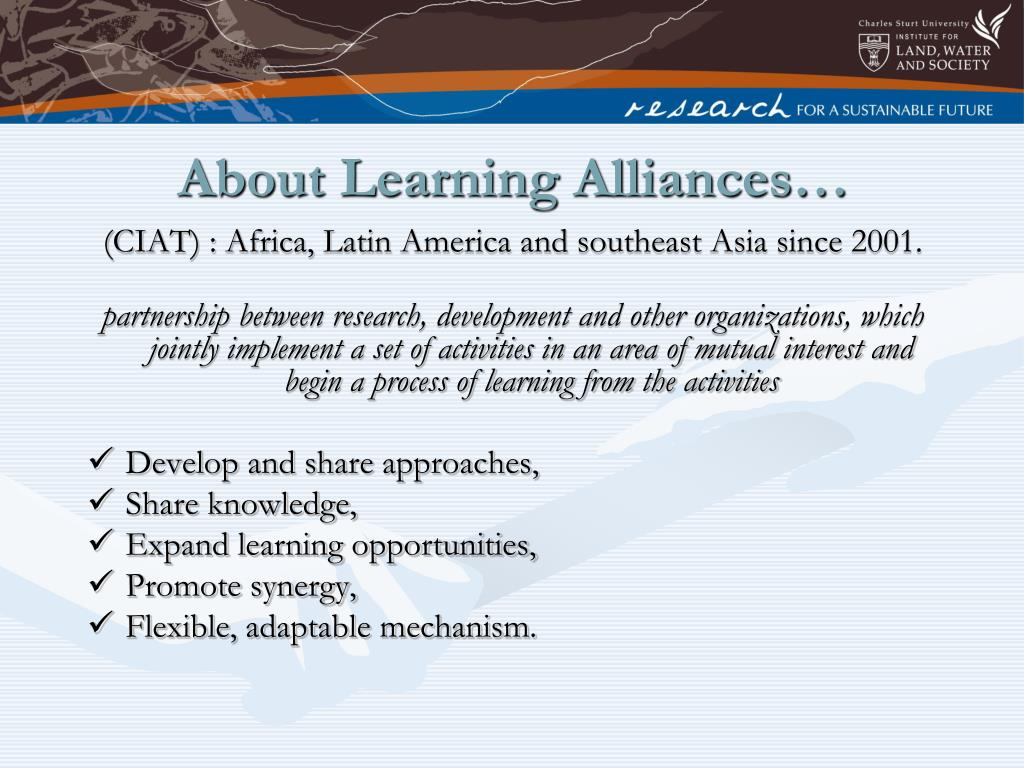 About Learning Alliances…