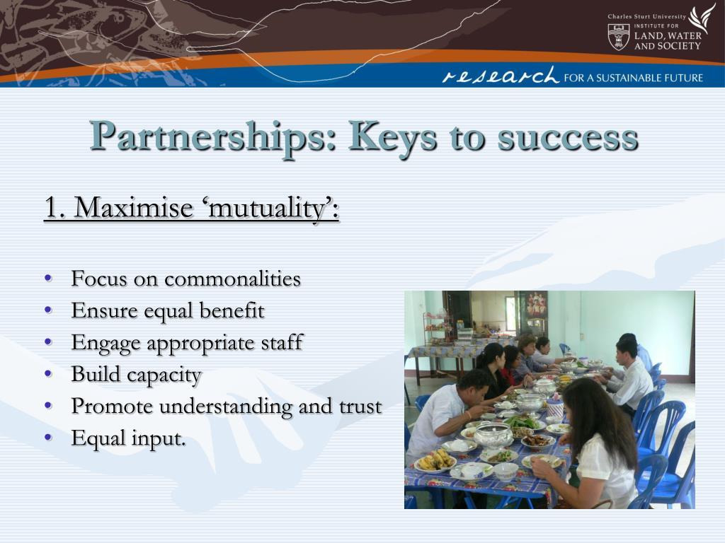Partnerships: Keys to success