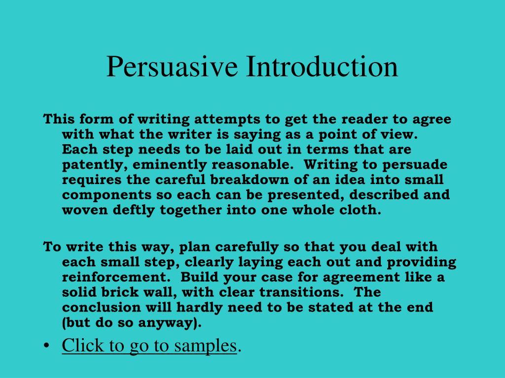 Persuasive Introduction