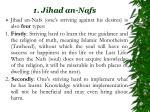 1 jihad an nafs