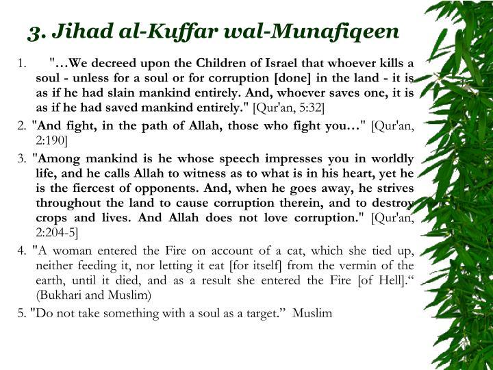 3. Jihad al-Kuffar wal-Munafiqeen