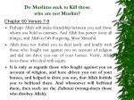 do muslims seek to kill those who are not muslim