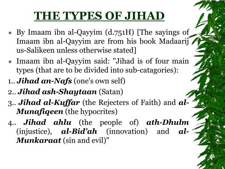 THE TYPES OF JIHAD