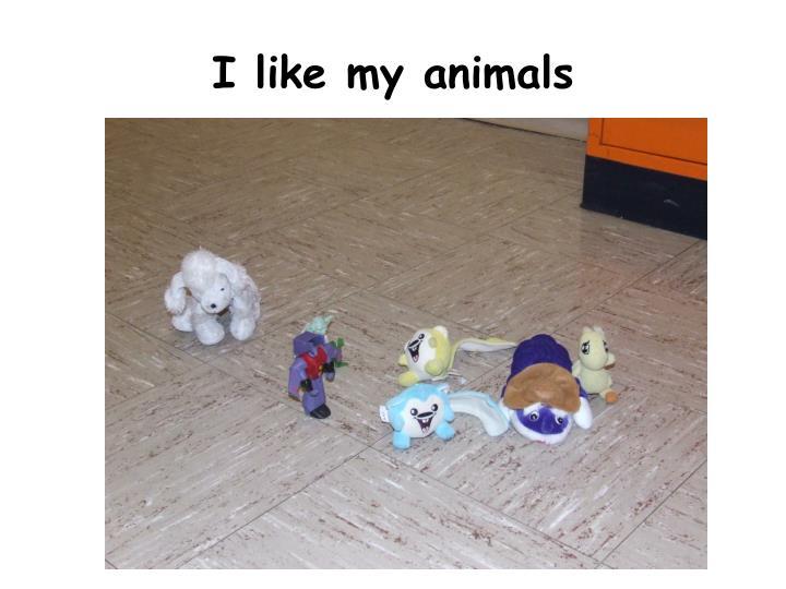 I like my animals
