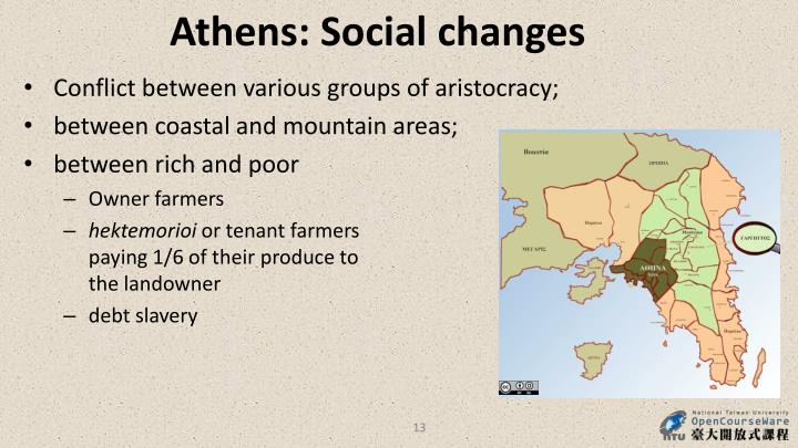 Athens: Social changes