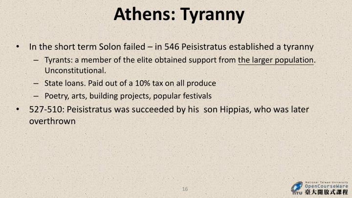 Athens: Tyranny