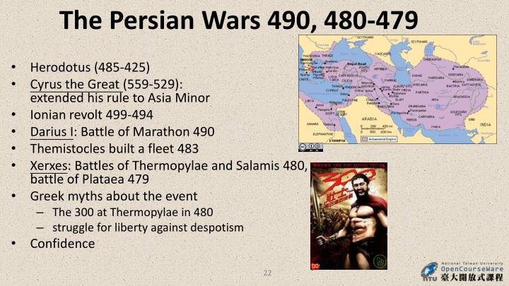 The Persian Wars 490, 480-479