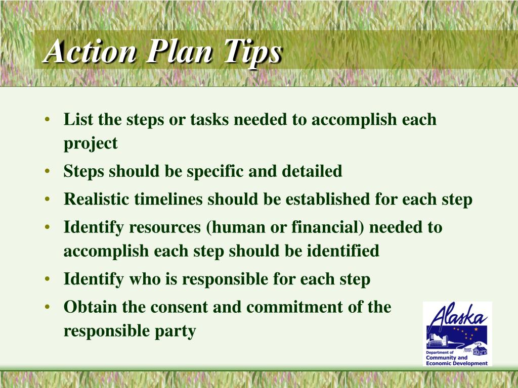 Action Plan Tips