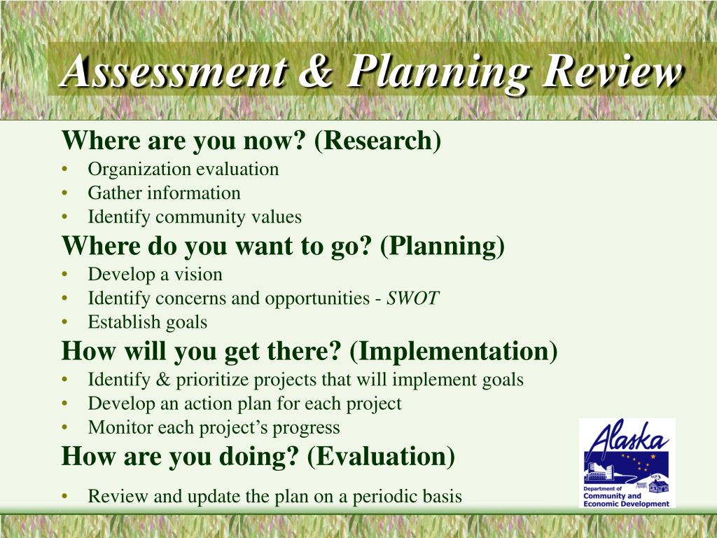 Assessment & Planning Review