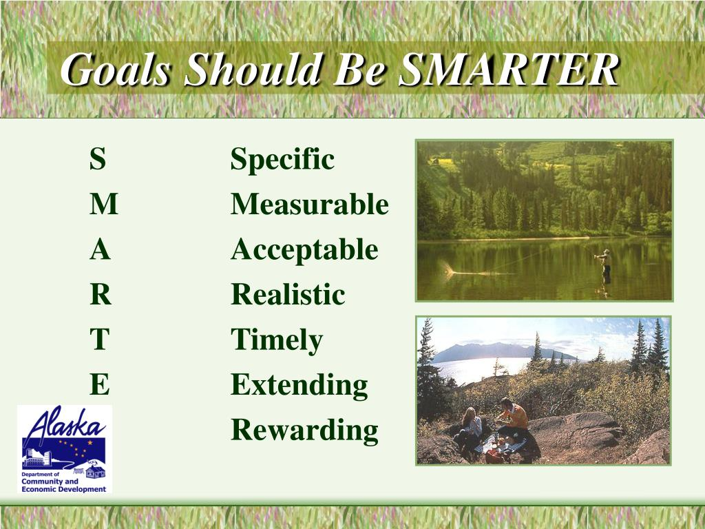 Goals Should Be SMARTER
