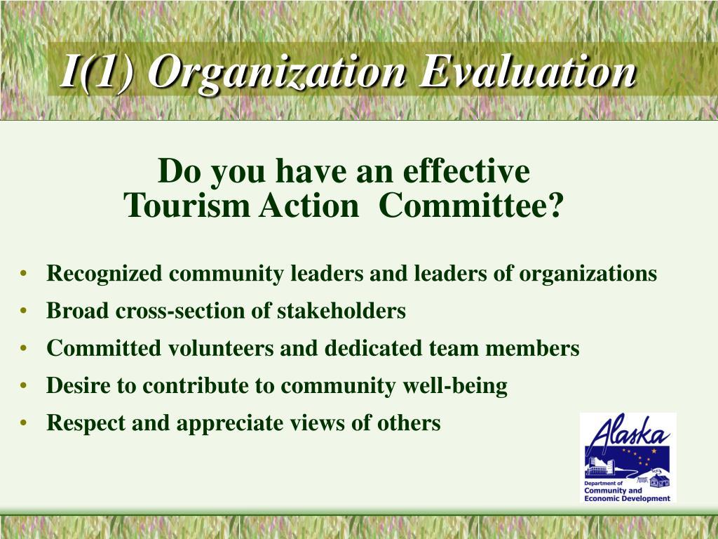 I(1) Organization Evaluation