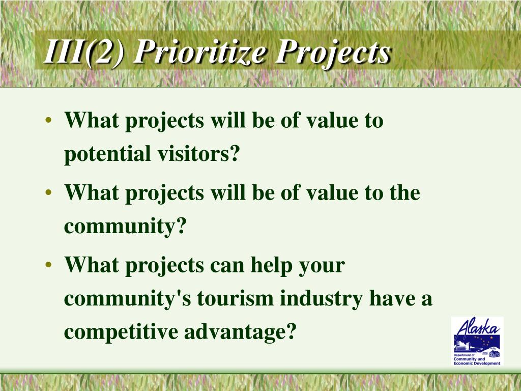 III(2) Prioritize Projects