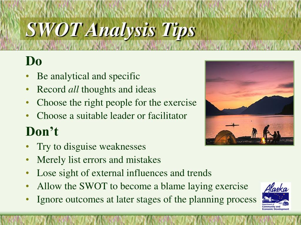 SWOT Analysis Tips