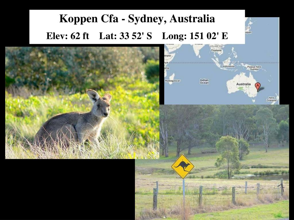 Koppen Cfa - Sydney, Australia