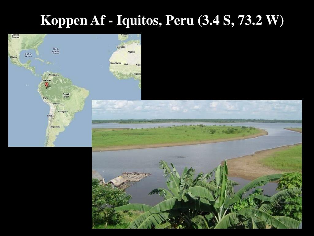 Koppen Af - Iquitos, Peru (3.4 S, 73.2 W)