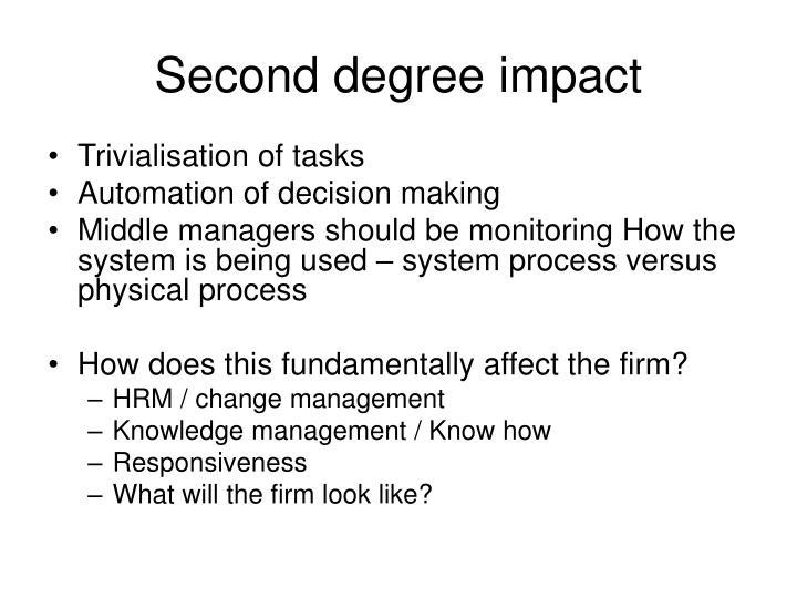 Second degree impact