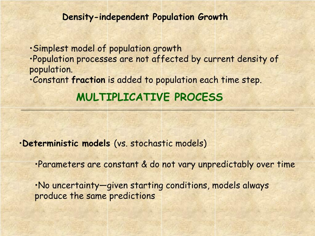 Density-independent Population Growth