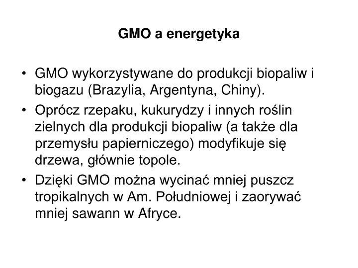 GMO a energetyka