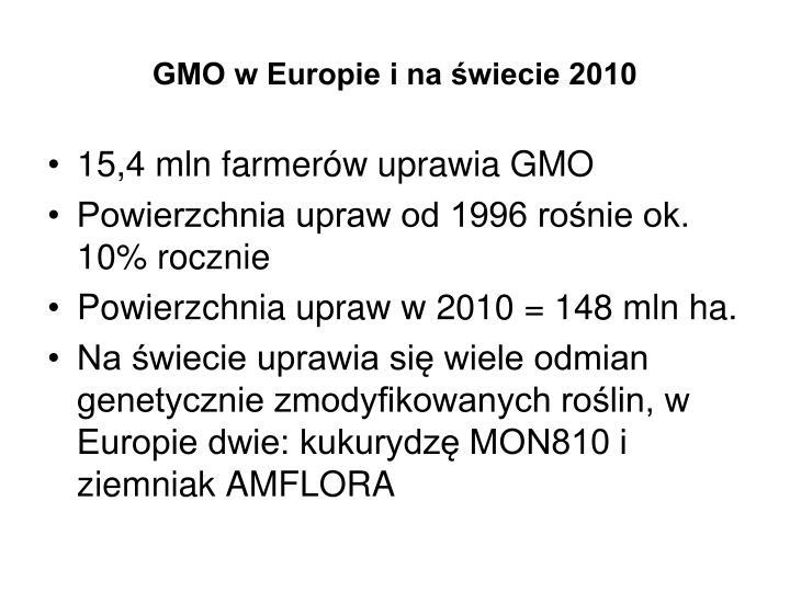 GMO w Europie i na świecie 2010
