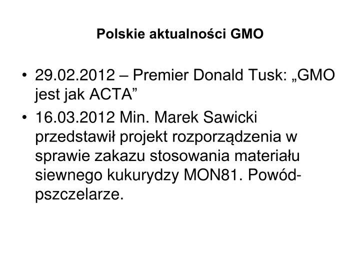 Polskie aktualności GMO
