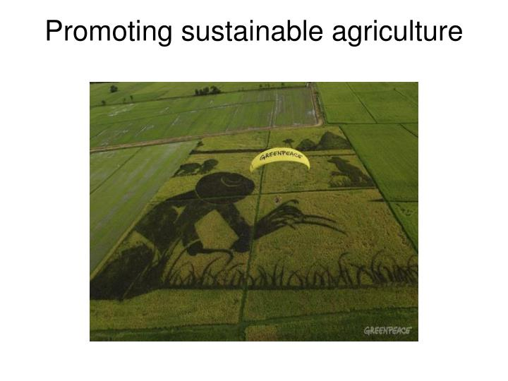 Promoting sustainable agriculture