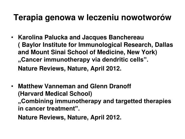 Terapia genowa w leczeniu nowotworów