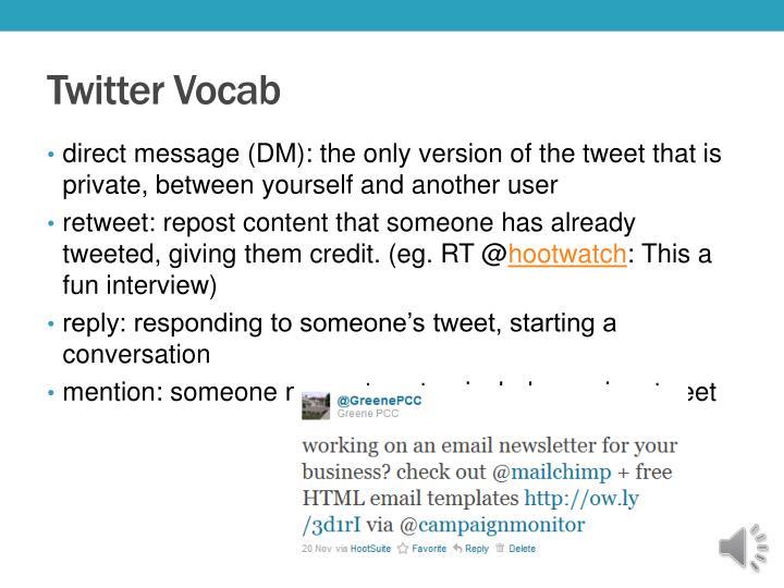 Twitter Vocab
