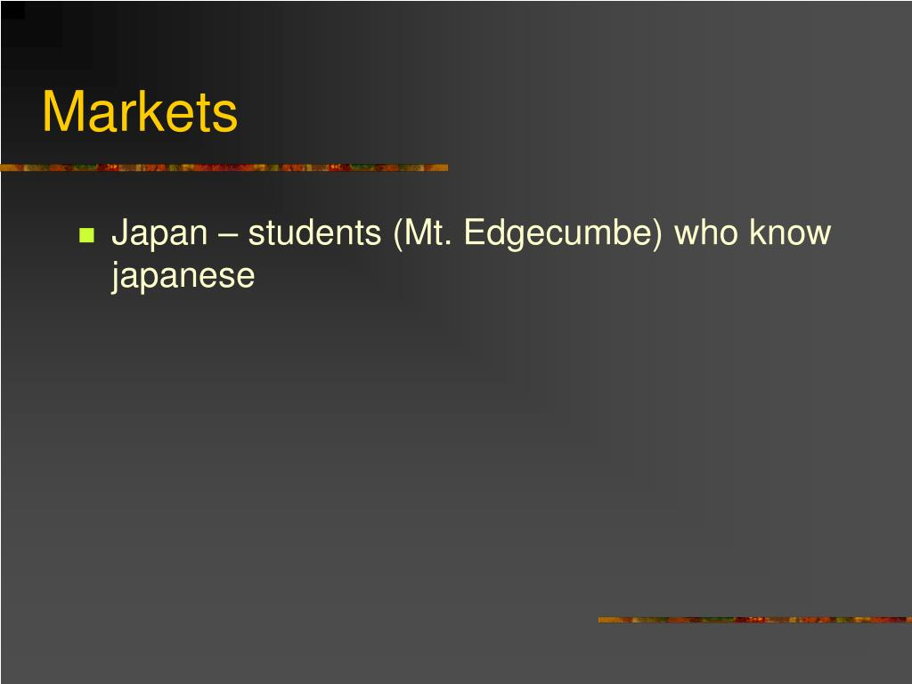 Japan – students (Mt. Edgecumbe) who know japanese