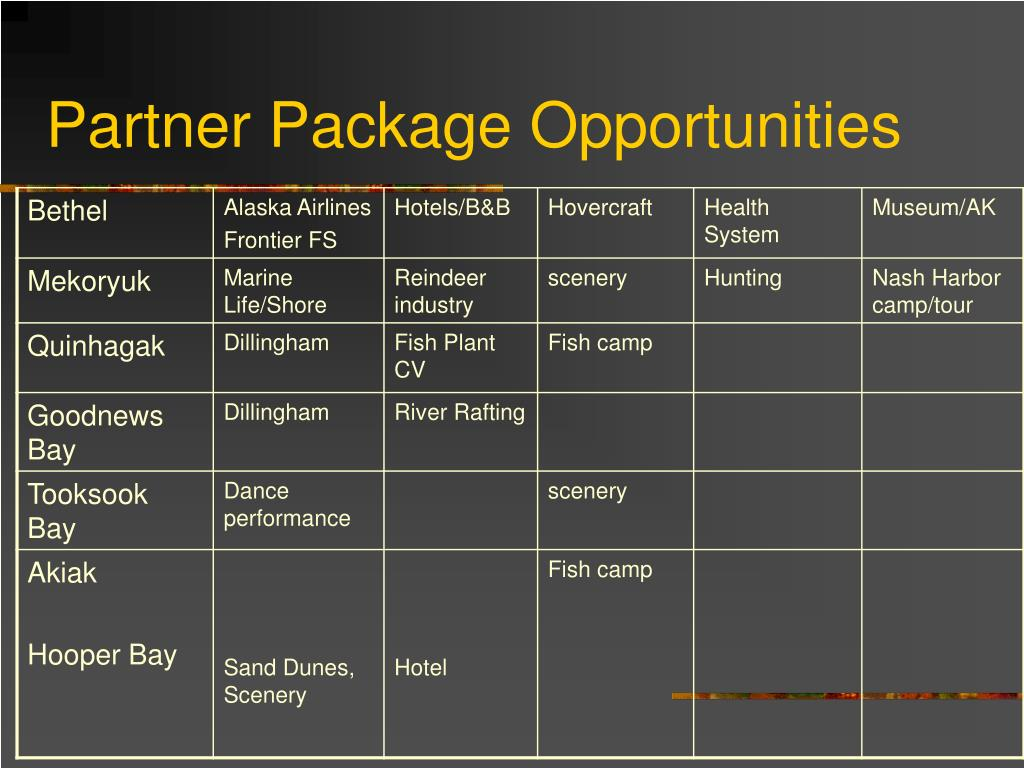 Partner Package Opportunities
