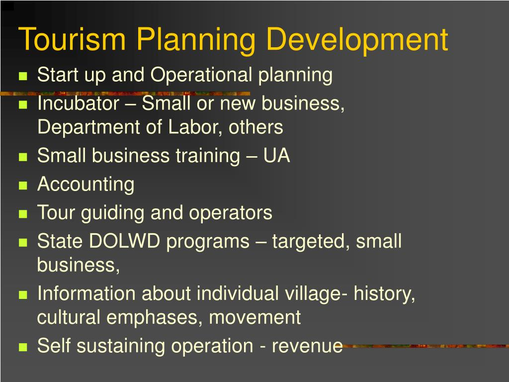 Start up and Operational planning