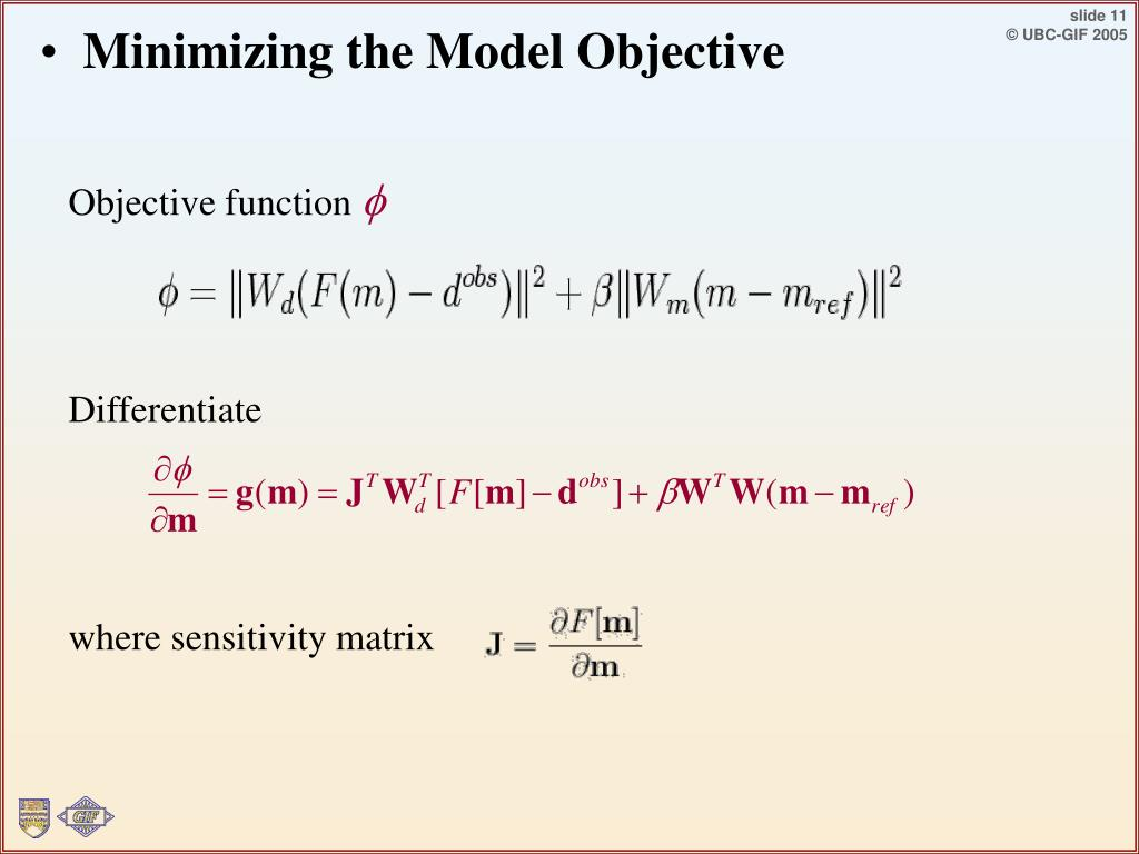 Minimizing the Model Objective