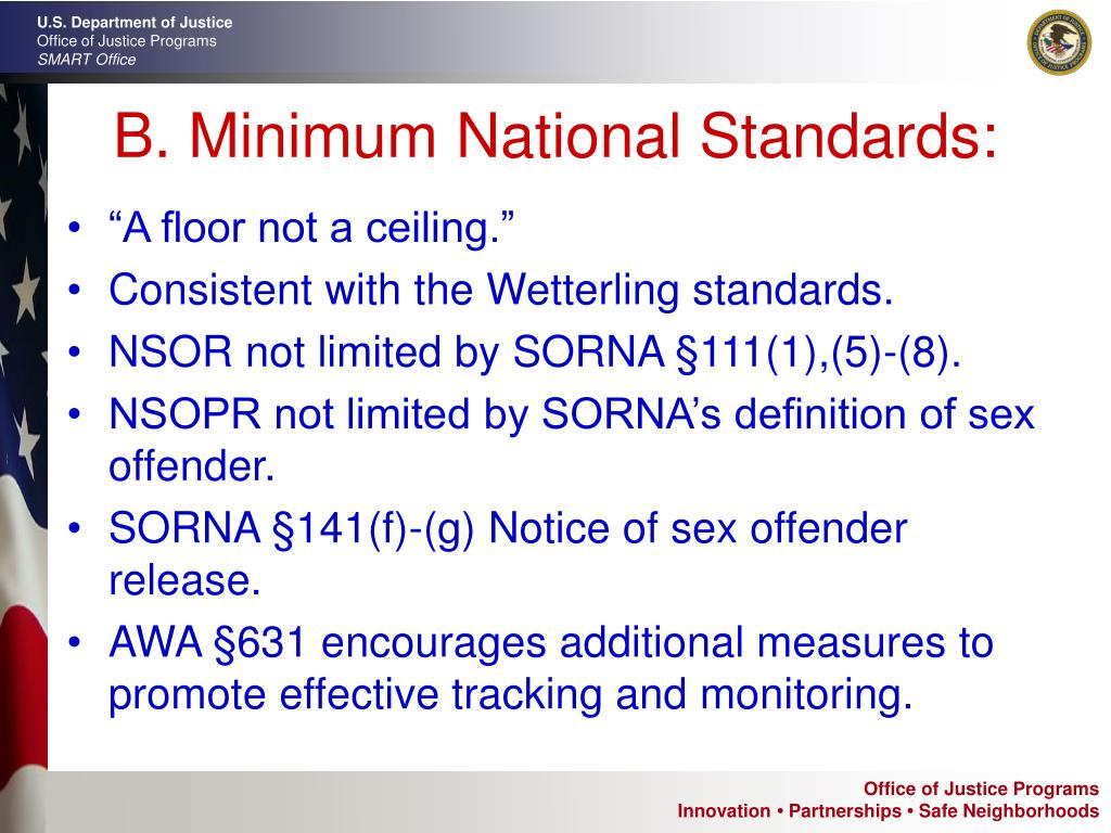 B. Minimum National Standards: