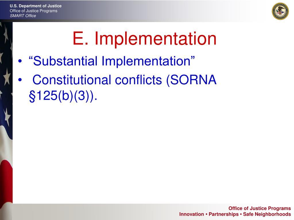 E. Implementation
