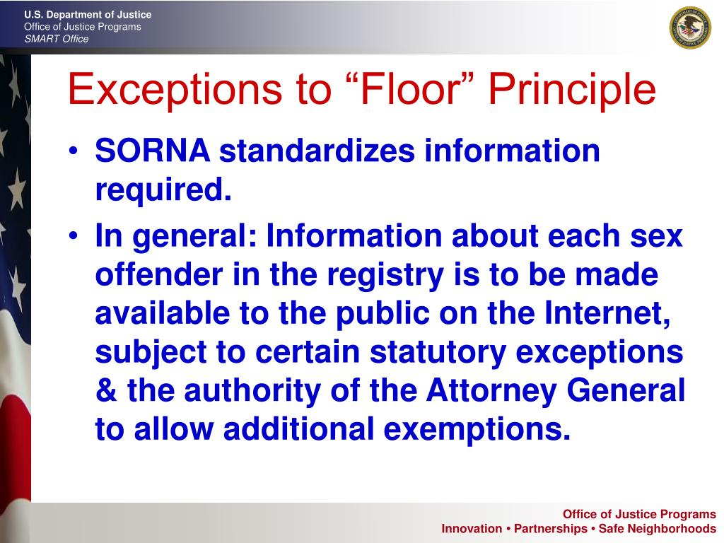 """Exceptions to """"Floor"""" Principle"""