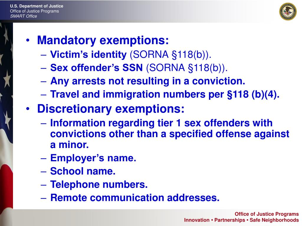 Mandatory exemptions: