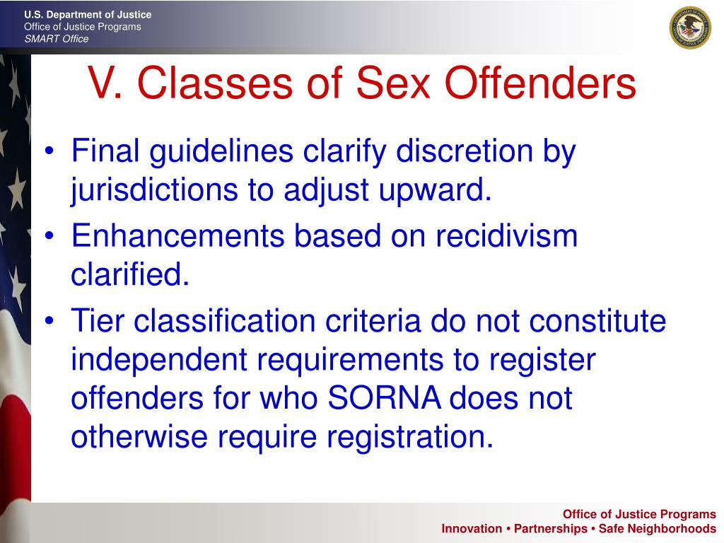 V. Classes of Sex Offenders
