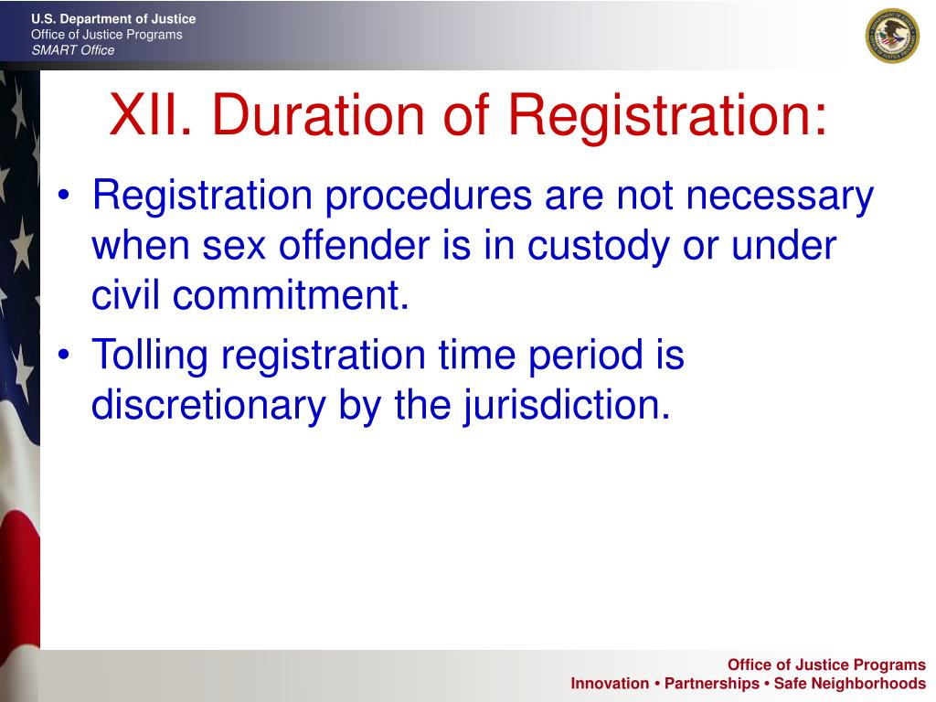 XII. Duration of Registration: