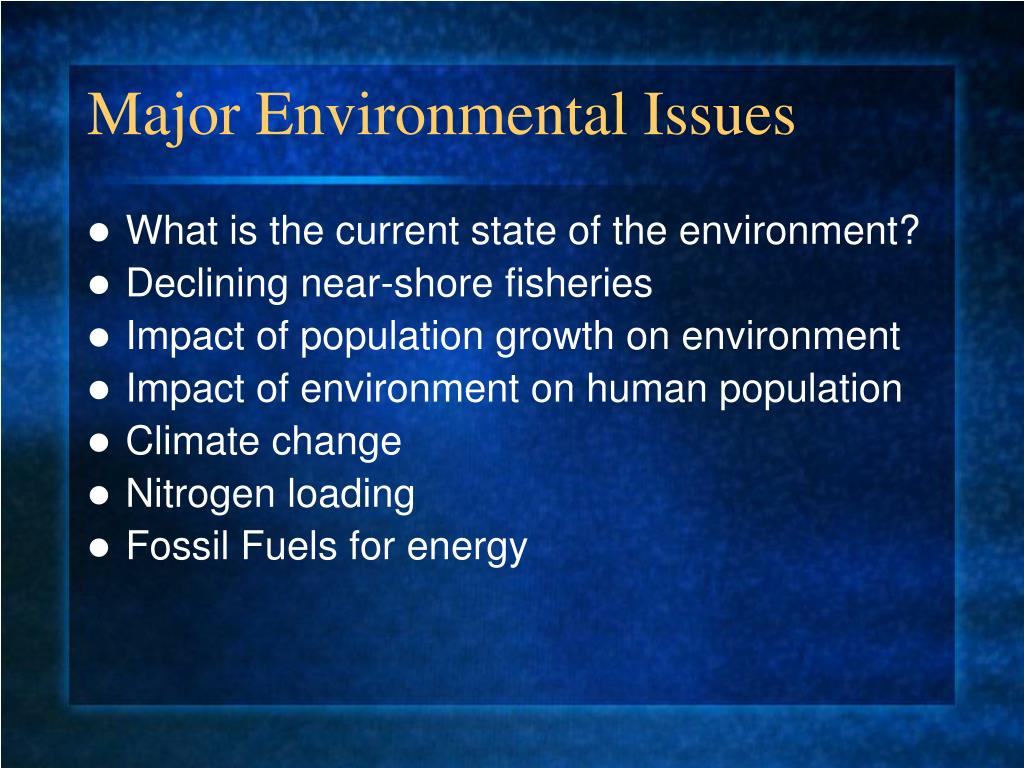 Major Environmental Issues