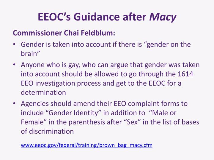EEOC's Guidance after