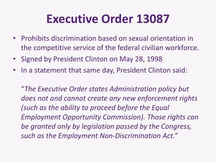 Executive Order 13087