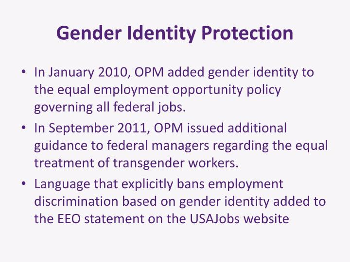 Gender Identity Protection