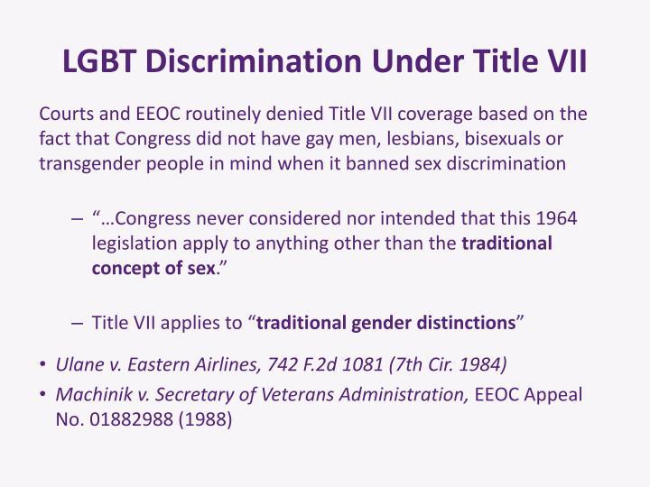 LGBT Discrimination Under Title VII