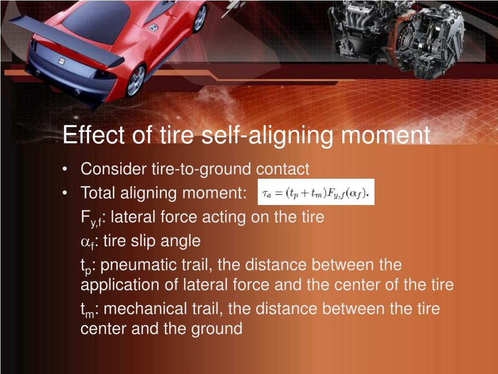Effect of tire self-aligning moment