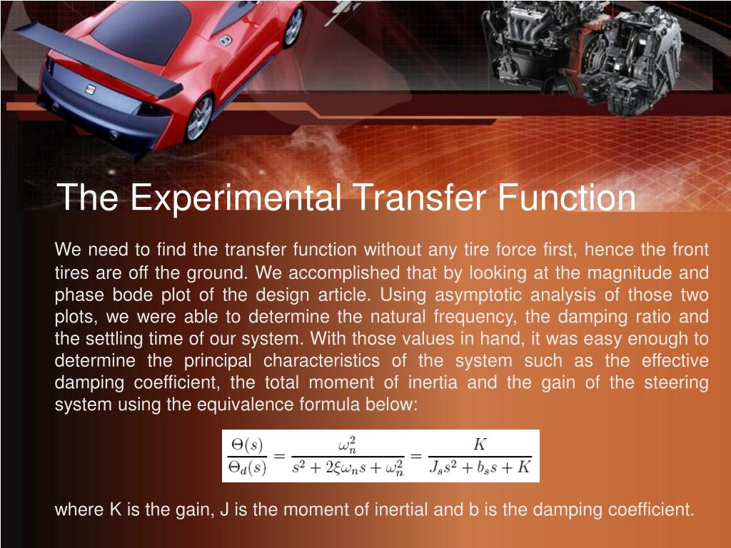 The Experimental Transfer Function