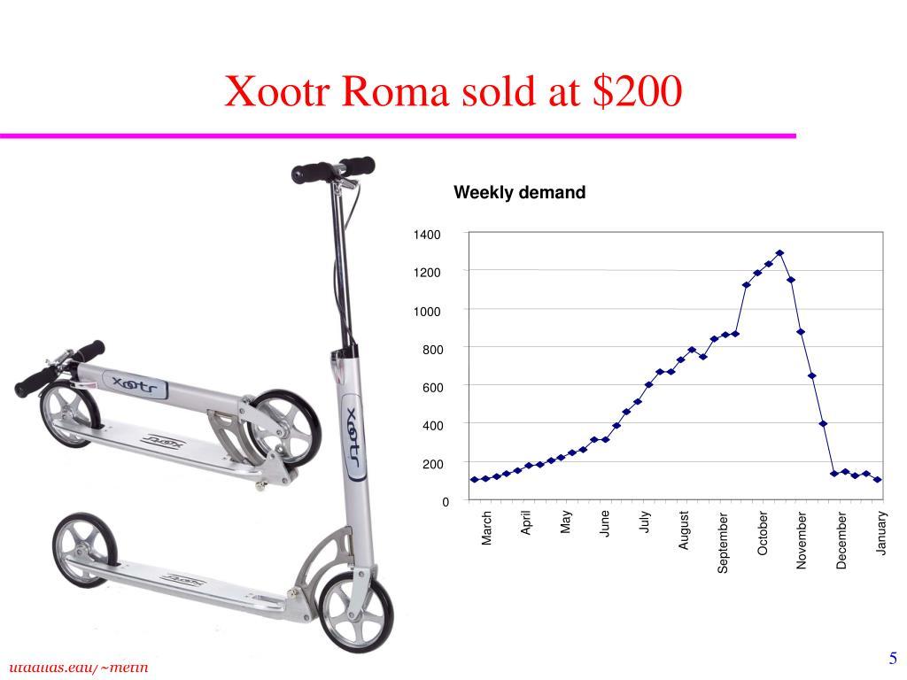 Xootr Roma sold at $200