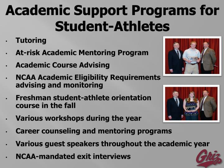 Academic Support Programs for Student-Athletes